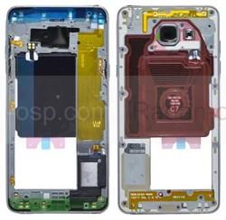 Средняя часть корпуса Samsung Galaxy A5 A510 Duos 2016 Black, GH96-09392B (оригинал), radan-osp.com - оригинальные комплектующие, фото