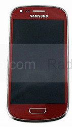 Сенсорная панель в сборе с дисплеем Samsung I8200Galaxy S3 mini VE (Garnet Red), GH97-15508F (оригинал), radan-osp.com - оригинальные комплектующие, фото