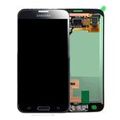 Дисплей в сборе с сенсорной панелью, черный Samsung G800H Galaxy S5 mini DUOS (Black/ Blue), GH97-16147A (оригинал)