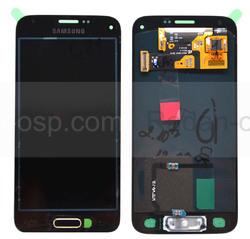 Дисплей в сборе с сенсорной панелью, gold Samsung G800H Galaxy S5 mini DUOS, GH97-16147D (оригинал), radan-osp.com - оригинальные комплектующие, фото
