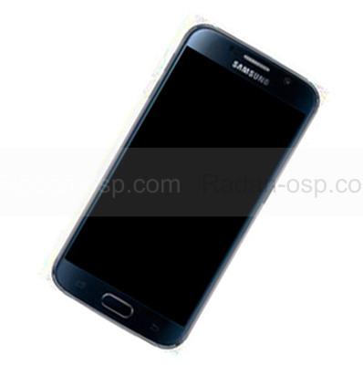 Дисплей с сенсором и передней панелью в сборе Samsung G925F Galaxy S6 Edge (Black), GH97-17162A (оригинал)