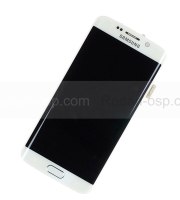 Дисплей с сенсором и передней панелью в сборе Samsung G925F Galaxy S6 Edge (White), GH97-17162B (оригинал)