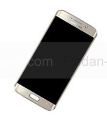 Дисплей с сенсором и передней панелью в сборе Samsung G925F Galaxy S6 Edge (Gold), GH97-17162C (оригинал), radan-osp.com - оригинальные комплектующие, фото