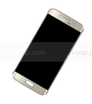 Дисплей с сенсором и передней панелью в сборе Samsung G925F Galaxy S6 Edge (Gold), GH97-17162C (оригинал)