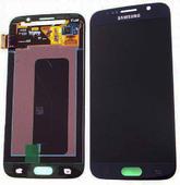 Дисплей с сенсором и передней панелью в сборе Samsung G920F Galaxy S6 Single Sim (Black), GH97-17260A (оригинал)