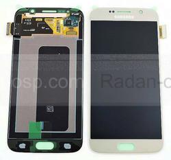 Дисплей с сенсором и передней панелью в сборе Samsung G920F Galaxy S6 Single Sim (Gold), GH97-17260C (оригинал), radan-osp.com - оригинальные комплектующие, фото