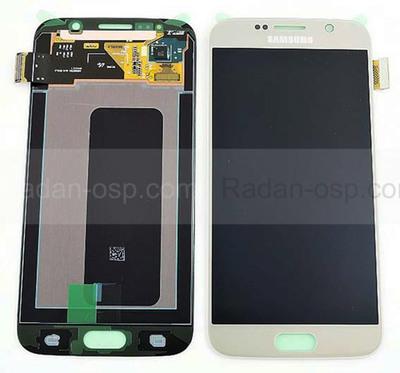 Дисплей с сенсором и передней панелью в сборе Samsung G920F Galaxy S6 Single Sim (Gold), GH97-17260C (оригинал)