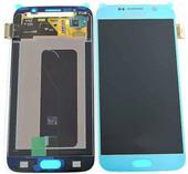 Дисплей в сборе с сенсорной панелью Samsung Galaxy S6 Duos G920FD/ G920F (Blue), GH97-17260D (оригинал)