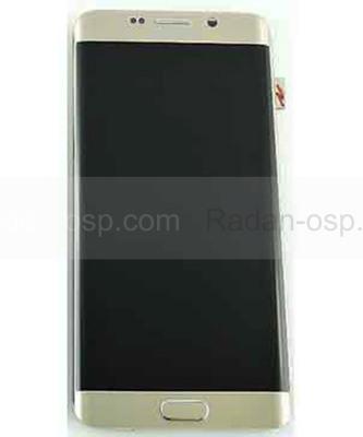 Сенсор с дисплеем и передней панелью Samsung Galaxy S6 Edge Plus G928F (Gold), GH97-17819A (оригинал)