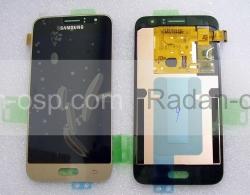 Дисплей с сенсором (тачскрином) Samsung Galaxy J1 J120 (2016) Gold, GH97-18224B (оригинал), radan-osp.com - оригинальные комплектующие, фото