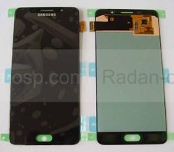 Дисплей с сенсором Samsung Galaxy A5 A510 Duos 2016 Black модуль, GH97-18250B (оригинал), radan-osp.com - оригинальные комплектующие, фото
