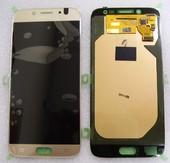 Дисплей с сенсором (тачскрином) Samsung Galaxy J7 J730 (2017) Gold SuperAMOLED, GH97-20736C (оригинал)