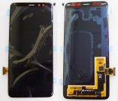 Дисплей с сенсором Samsung Galaxy A8 (2018) A530 Super AMOLED Black (для моделей всех цветов), GH97-21406A (оригинал)