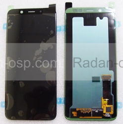 Дисплей с сенсором Samsung Galaxy A6 A600 дисплейный модуль Super AMOLED (Black), GH97-21898A/ GH97-21897A (оригинал), radan-osp.com - оригинальные комплектующие, фото