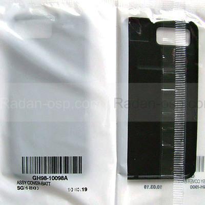Samsung I900 Крышка батарейная (аккумуляторная), modern black, GH98-10098A (оригинал)