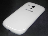 Крышка аккумулятора, Ceramic White Samsung I8200 Galaxy S3 mini VE, GH98-24992A (оригинал)