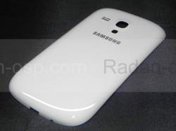 Крышка аккумулятора, Ceramic White Samsung I8200Galaxy S3 mini VE, GH98-24992A (оригинал), radan-osp.com - оригинальные комплектующие, фото