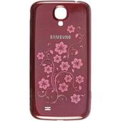Крышка батареи Samsung I9500 Galaxy S4 (Red laFleur), GH98-26755H (оригинал)