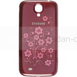 Крышка батареи Samsung I9500 Galaxy S4 (Red laFleur), GH98-26755H (оригинал), radan-osp.com - оригинальные комплектующие, фото