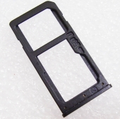Держатель сим карты Dual Sim Nokia 6 Black, MED1C02021A (оригинал)