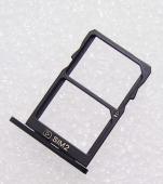 Держатель сим карты Dual Sim Nokia 5 Black, MEND102033A (оригинал)