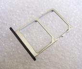 Держатель сим карты Dual Sim Nokia 3 (черный), MENE152012A (оригинал)