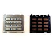 Sony S500I Клавиатура набора номера русс./ лат., Silver/ Blue, SXA1097787/503 (оригинал)